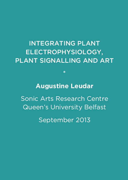 Integrating plant electrophysiology, plant signalling and art